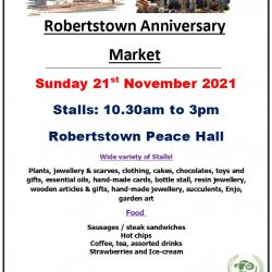 Robertstown Anniversary Market – 21st November 2021
