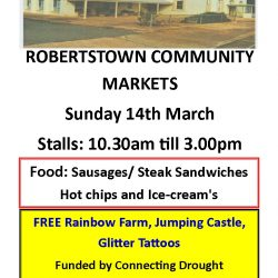 Robertstown Community Markets – 14th March 2021 – More Details