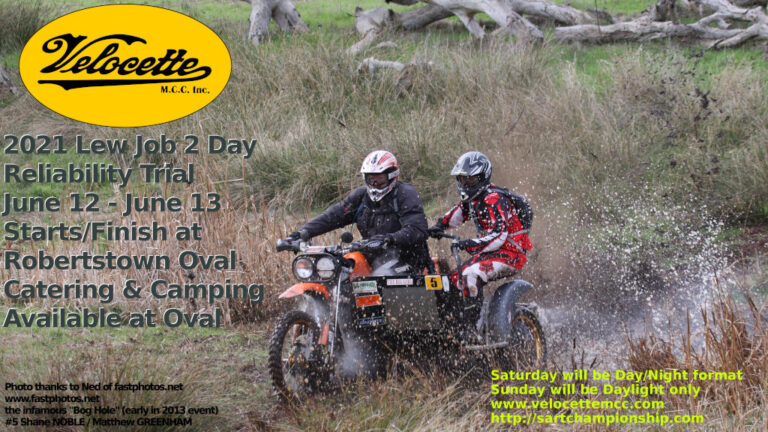 Lew Job 2 Day Reliability Trial – Robertstown 12th & 13th June 2021
