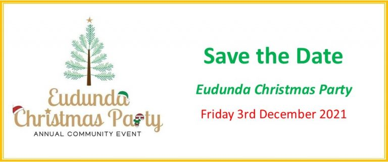 Eudunda Christmas Party Saved – So Save The Date – 3rd  December 2021