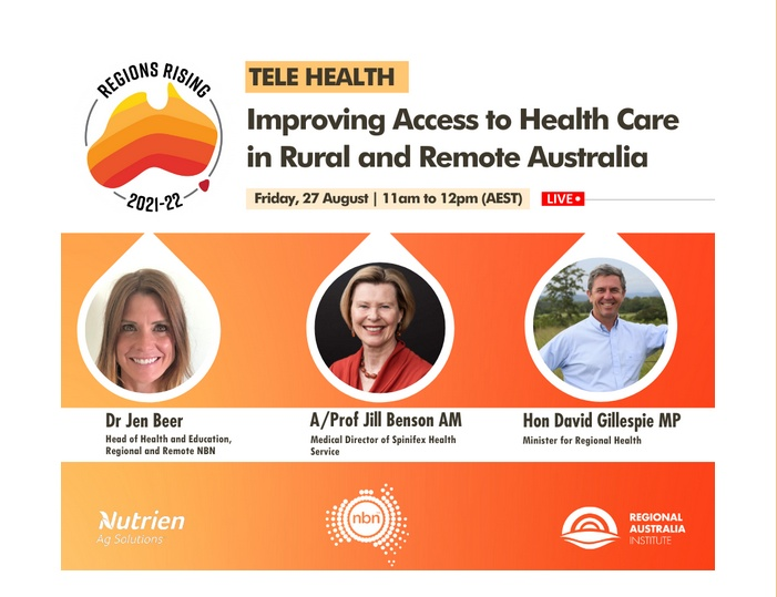 Tele-Health: Improving Access to Health Care in Rural and Remote Australia – Free Webinar 27th Aug 2021