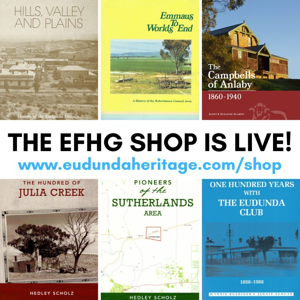 The Eudunda Family Heritage Gallery Web Shop is Open - Aug 5th 2021