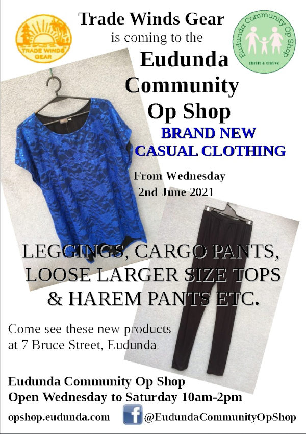 Trade Winds Gear New Casual Clothing Coming to the Eudunda Community Op Shop