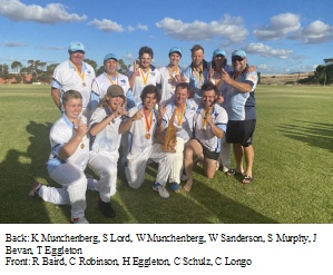 Truro A5 Cricketers Celebrate Grand Final Victory at Eudunda – Game Stats