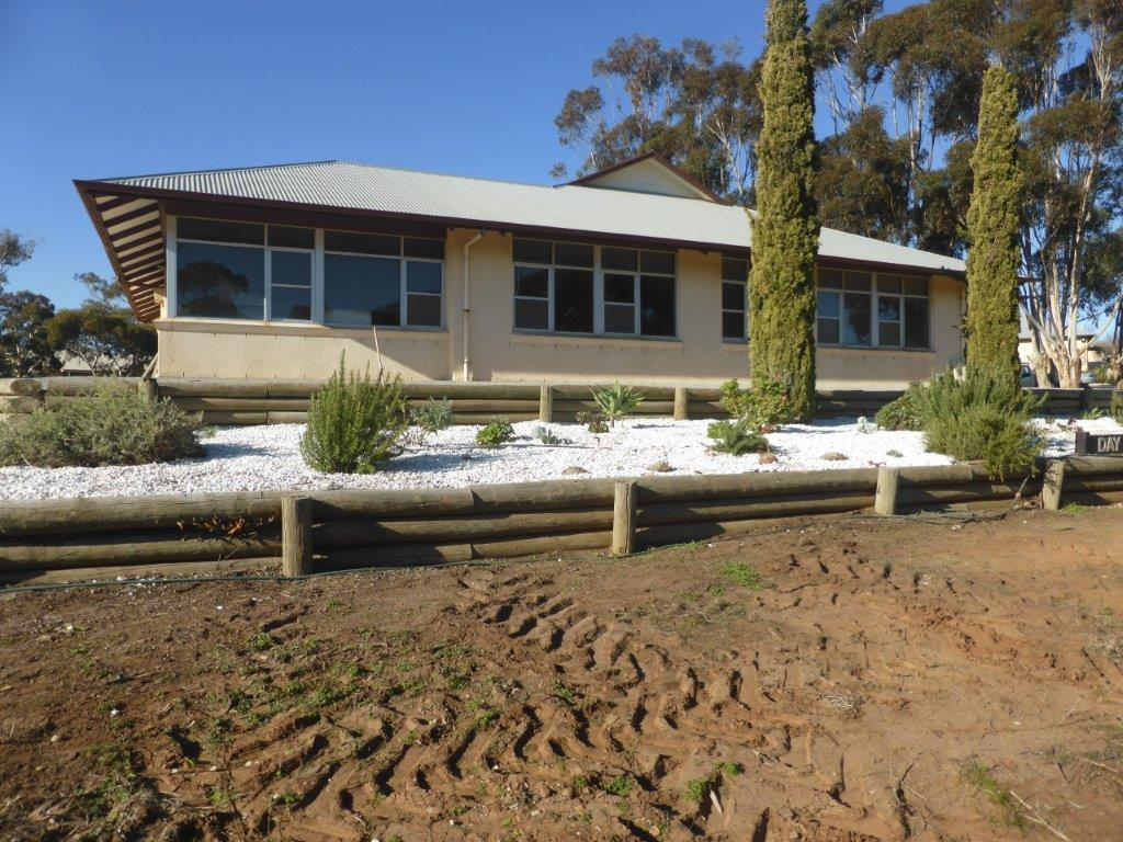 View from the road after Volunteers Landscape Eudunda Hostel Gardens