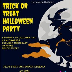 Trick or Treat Halloween Party – Eudunda Gardens with YAC – Sat 30th Oct 2021