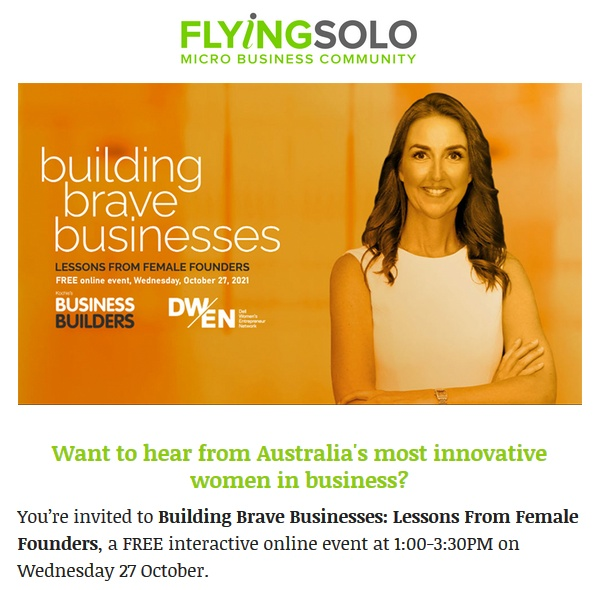 Lessons from Female Founders – building brave businesses – Free Online Event 27th Oct 2021